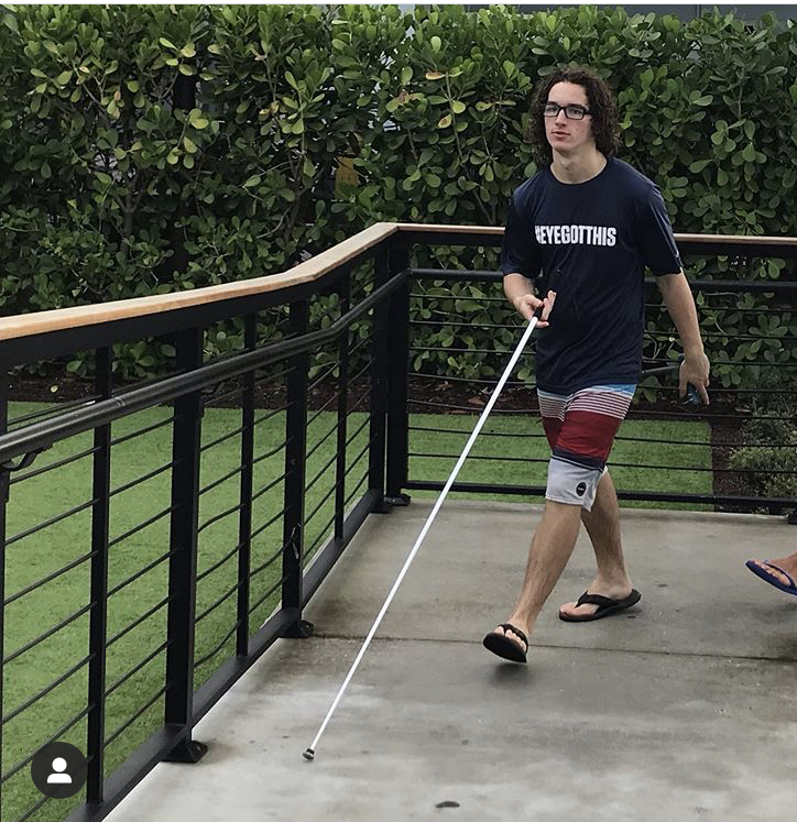 kai with cane